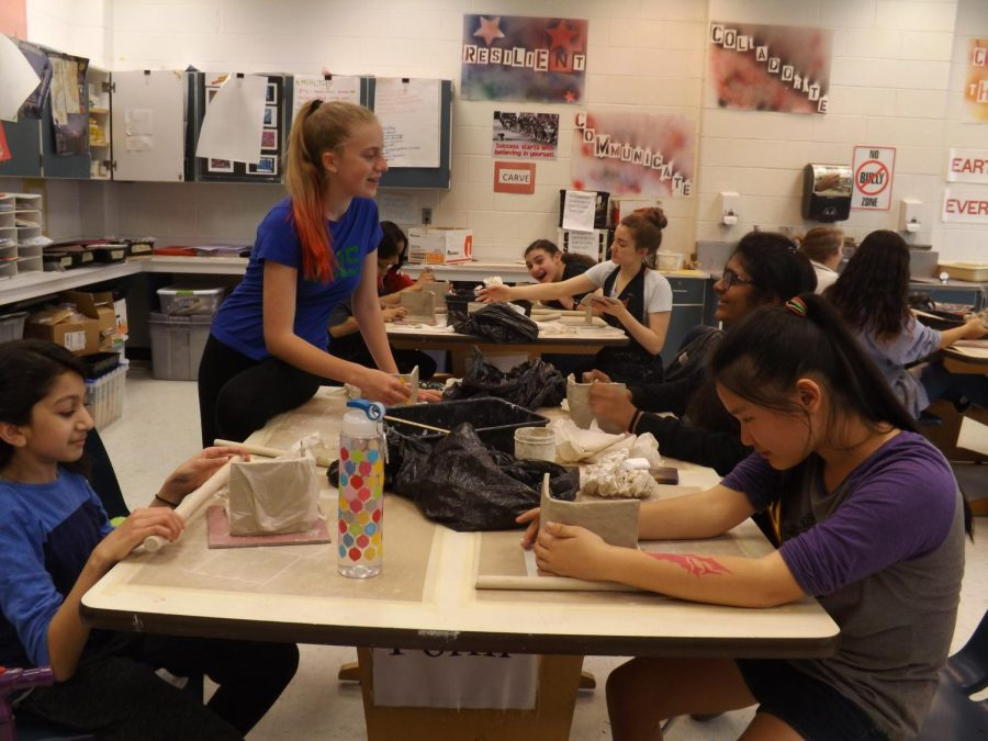 Students find physical and mental benefits in art