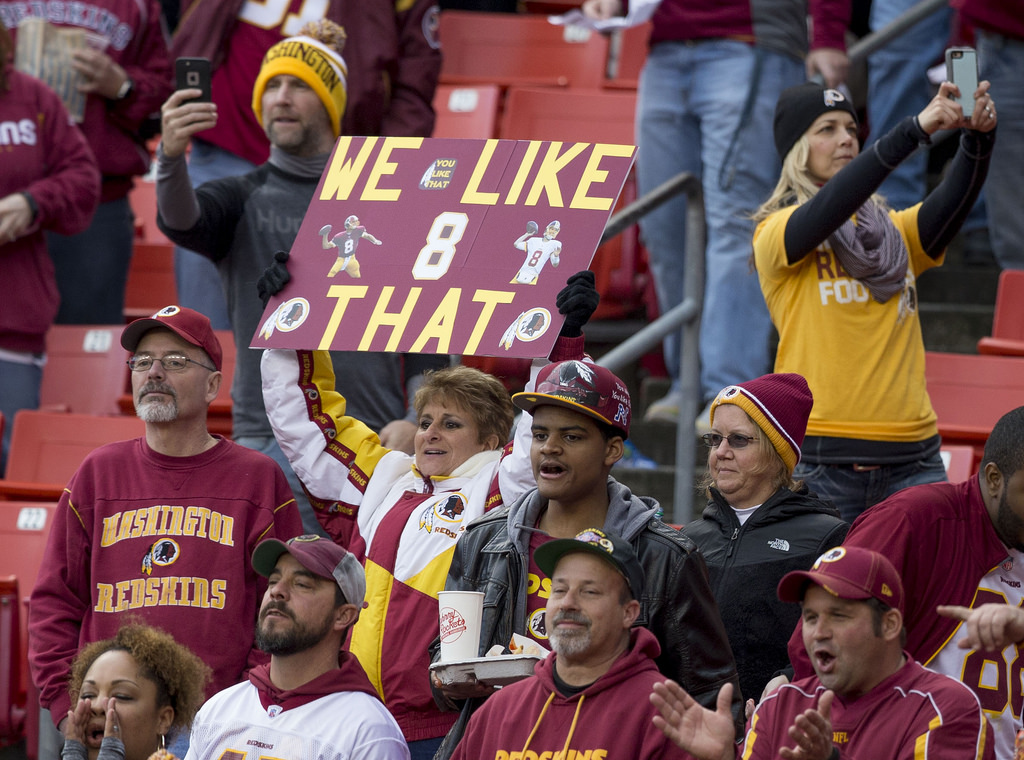 Redskins' fans root for their favorite team.  PC: Courtesy Photo