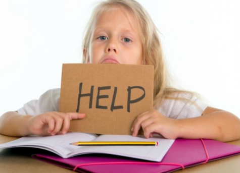 A child that needs help on her homework.