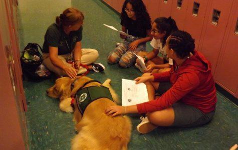 Seventh-graders read to Tucker