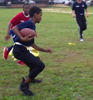 Flag football club after school on Wednesdays