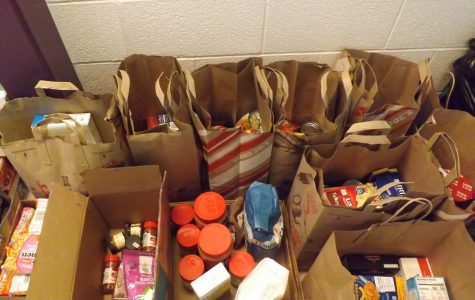 Food Collected From the Food Drive