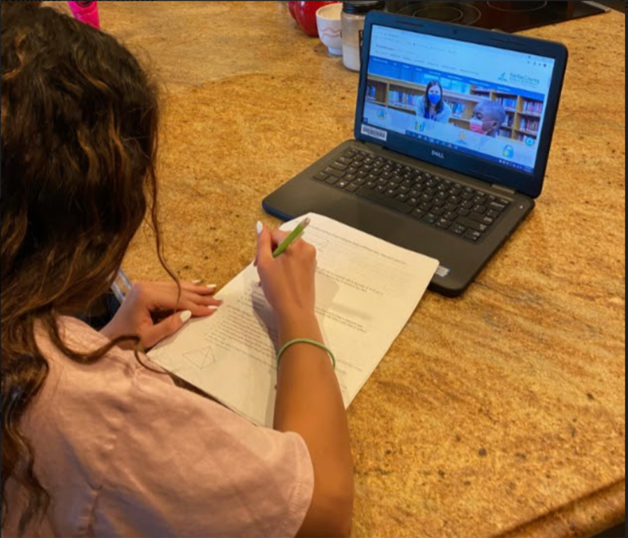 Gabi Lopez, RCMS seventh-grader says that she does all her homework on asynchronous Mondays.